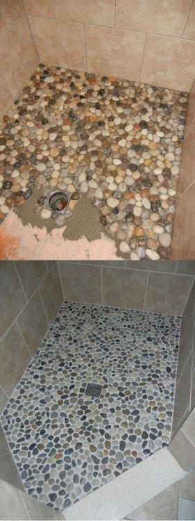 Klijuojame dušo grindis akmenukų mozaika .jpg